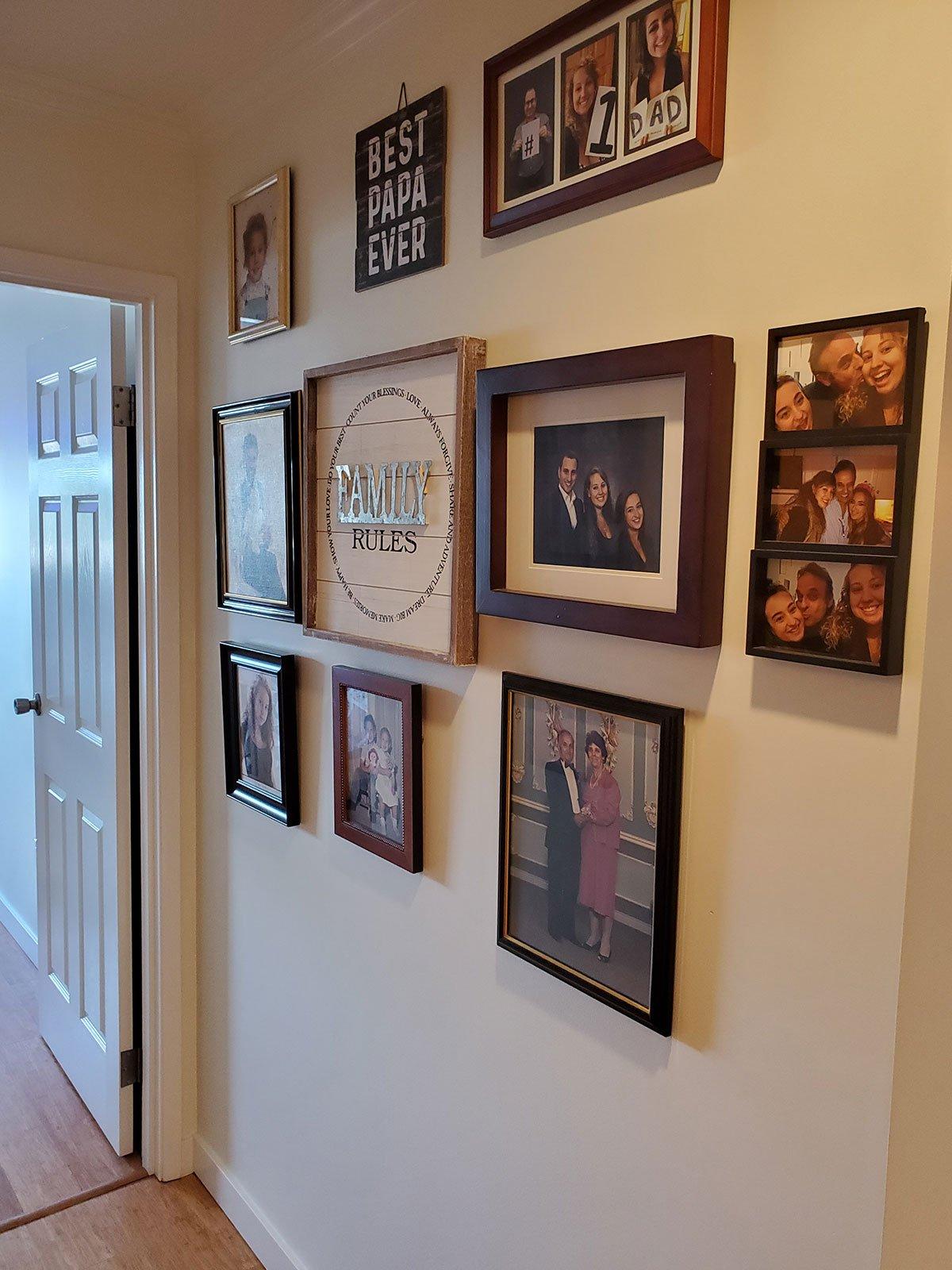 Jana Razga Interiors Kitsilano Condo Family Wall View